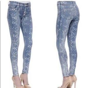 Hudson Snake Print Midrise Nico Super Skinny Jeans